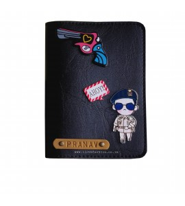 Buy Black Passport cover (Peppy) Online at ILoveFashion