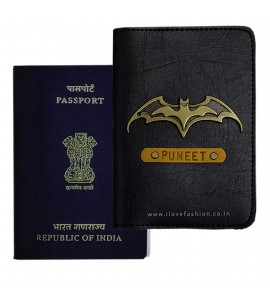 Buy Black Passport Cover (Vintage) Online at ILoveFashion