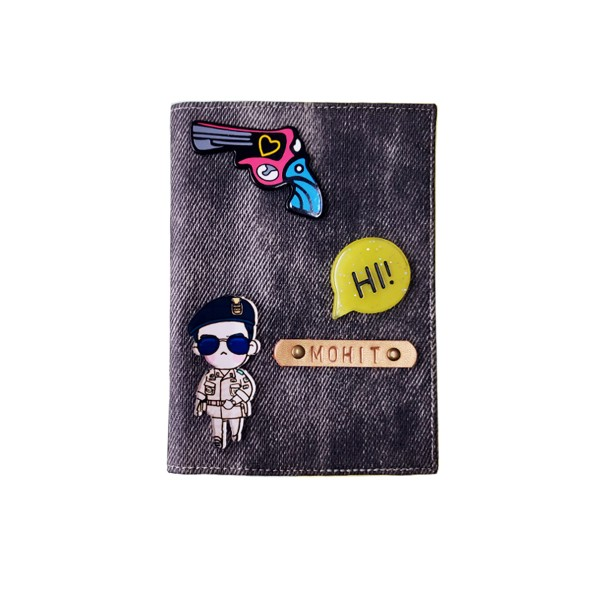 Denim Black Passport cover (Peppy)