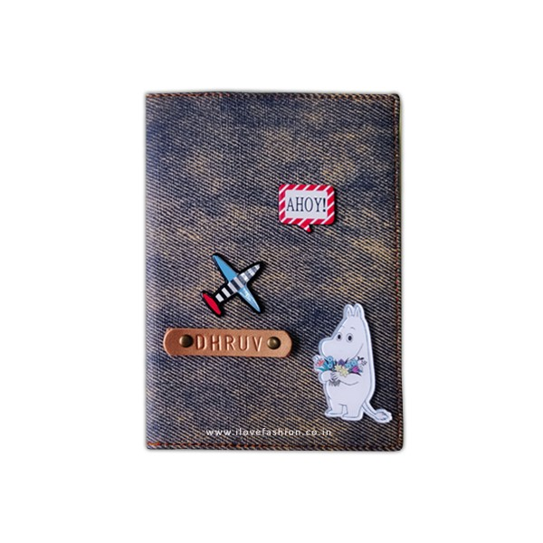 Denim Rusty Blue Passport cover (Peppy)