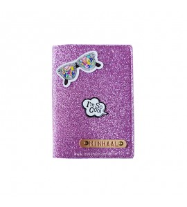 Buy Glitter Pink Passport cover (Peppy) Online at ILoveFashion