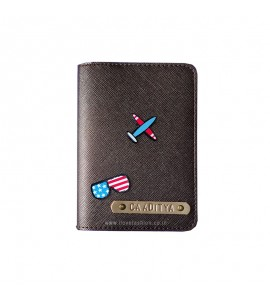 Buy Metallic Brown Passport cover (Peppy) Online at ILoveFashion