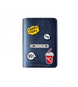 Buy Metallic Navy Blue Passport cover (Peppy) Online at ILoveFashion