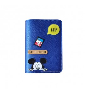 Buy Metallic Royal Blue Passport cover (Peppy) Online at ILoveFashion