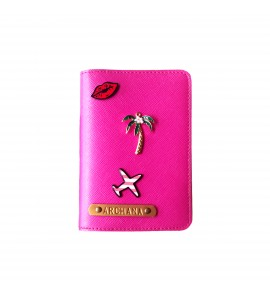 Buy Metallic Hot Pink Passport cover (Peppy) Online at ILoveFashion