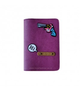 Buy Purple Passport cover (Peppy) Online at ILoveFashion