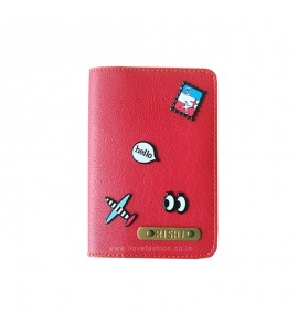 Buy Red Passport cover (Peppy) Online at ILoveFashion