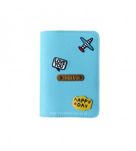 Buy Saffiano Light Blue Passport cover (Peppy) Online at ILoveFashion