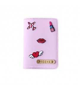 Buy Saffiano Light Pink Passport cover (Peppy) Online at ILoveFashion