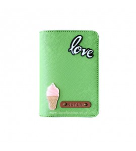 Buy Saffiano Parrot Green Passport cover (Peppy) Online at ILoveFashion