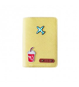 Buy Saffiano Yellow Passport cover (Peppy) Online at ILoveFashion