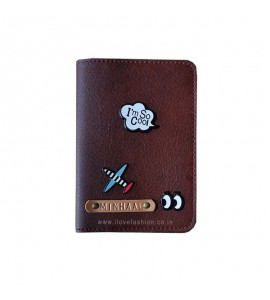 Buy Shaded Chocolate Brown Passport cover (Peppy) Online at ILoveFashion