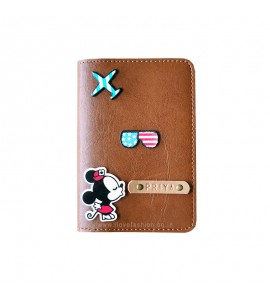 Buy Tan Brown Passport cover (Peppy) Online at ILoveFashion