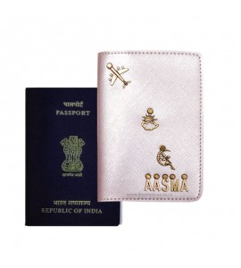 Buy Metallic Rose Gold Passport Cover (Vintage) Online at ILoveFashion