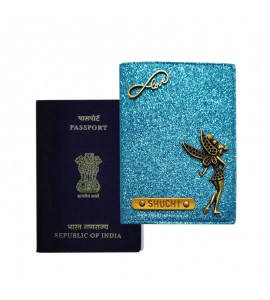 Buy Glitter Blue Passport Cover (Vintage) Online at ILoveFashion