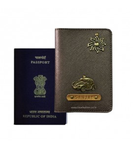 Buy Metallic Brown Passport Cover (Vintage) Online at ILoveFashion