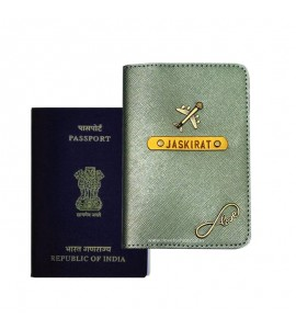 Buy Metallic Olive Passport Cover (Vintage) Online at ILoveFashion
