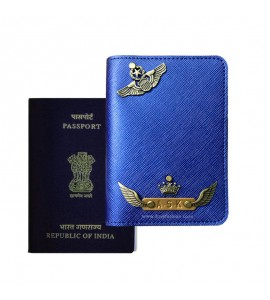 Buy Metallic Royal Blue Passport Cover (Vintage) Online at ILoveFashion