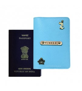 Buy Saffiano Light Blue Passport Cover (Vintage) Online at ILoveFashion