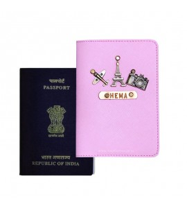 Buy Saffiano Light Pink Passport Cover (Vintage) Online at ILoveFashion