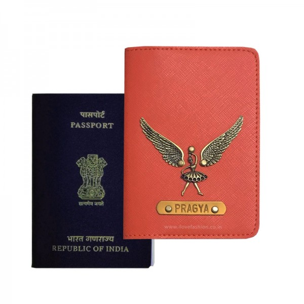 Saffiano Orange Passport Cover (Vintage)