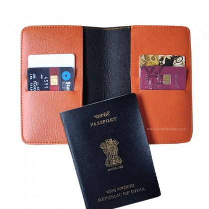 Orange Passport cover (Peppy)
