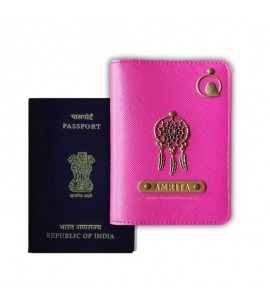 Buy Metallic Hot Pink Passport Cover (Vintage) Online at ILoveFashion