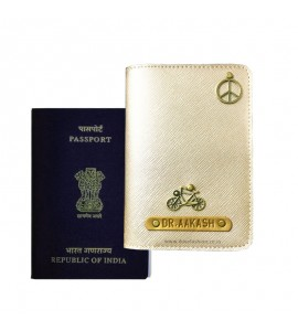 Buy Metallic Matt Gold Passport Cover (Vintage) Online at ILoveFashion