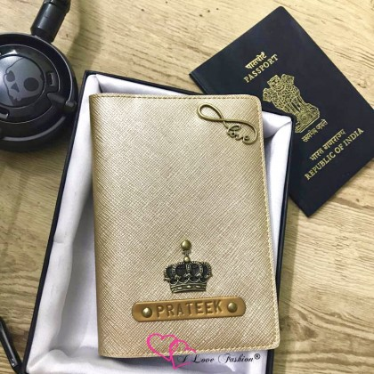 Metallic Matt Gold Passport Cover (Vintage)