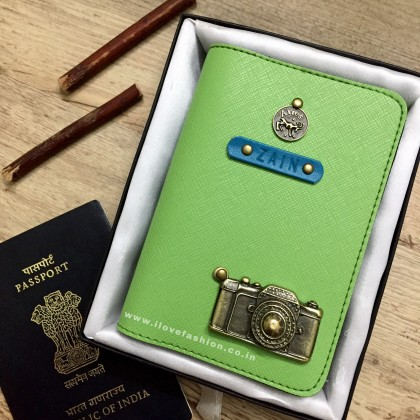 Saffiano Parrot Green Passport Cover (Vintage)