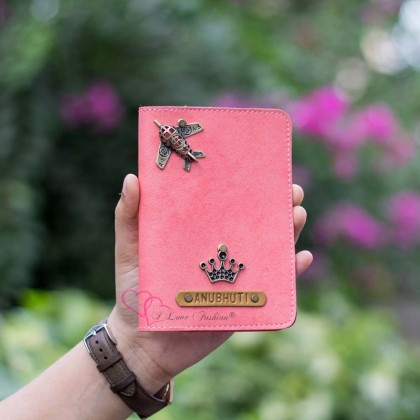 Peach Pink Passport Cover (Vintage)