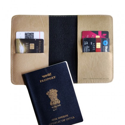 Beige Passport cover (Peppy)