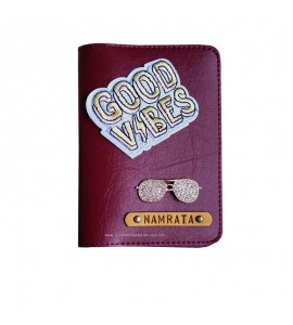 Buy Burgundy Passport cover (Peppy) Online at ILoveFashion