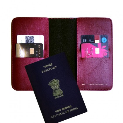 Burgundy Passport Cover (Vintage)