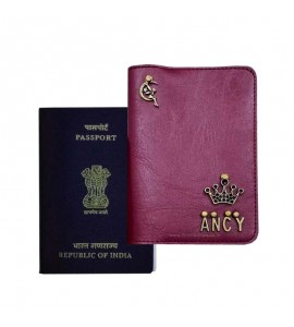 Buy Burgundy Passport Cover (Vintage) Online at ILoveFashion