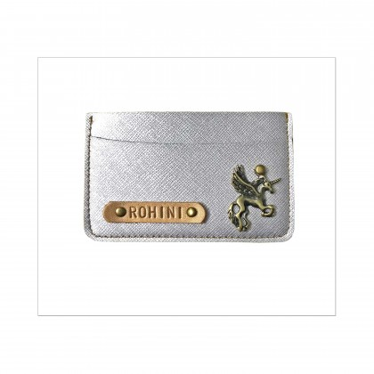 Metallic Silver Card Holder
