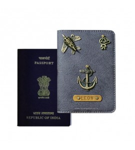 Buy Charcoal Grey Passport Cover (Vintage) Online at ILoveFashion