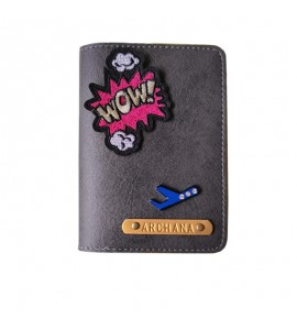 Buy Charcoal Grey Passport cover (Peppy) Online at ILoveFashion
