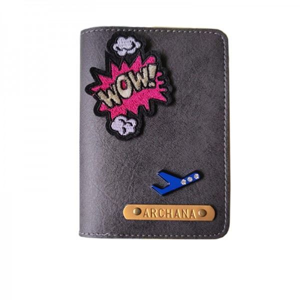 Charcoal Grey Passport cover (Peppy)