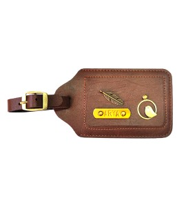 Buy Chocolate Brown Luggage Tag Online at ILoveFashion