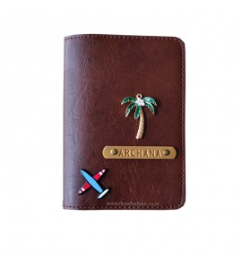 Buy Chocolate Brown Passport cover (Peppy) Online at ILoveFashion