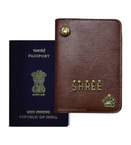 Buy Chocolate Brown Passport Cover (Vintage) Online at ILoveFashion