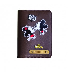 Buy Dark Brown Passport cover (Peppy) Online at ILoveFashion