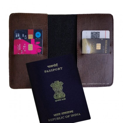 Dark Brown Passport cover (Peppy)