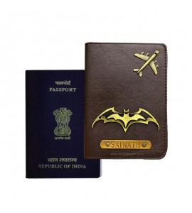 Buy Dark Brown Passport Cover (Vintage) Online at ILoveFashion