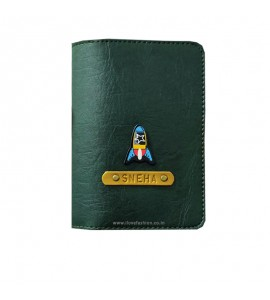 Buy Dark Green Passport cover (Peppy) Online at ILoveFashion