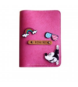Buy Dark Pink Passport cover (Peppy) Online at ILoveFashion