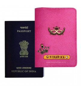 Buy Dark Pink Passport Cover (Vintage) Online at ILoveFashion