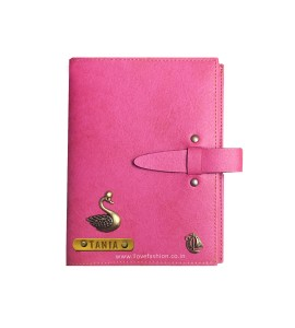 Buy Dark Pink Personalised Diary Online at ILoveFashion