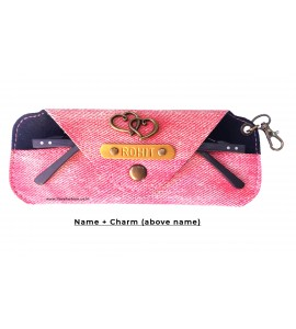 Buy Denim Carrot Pink Eyewear Case Online at ILoveFashion